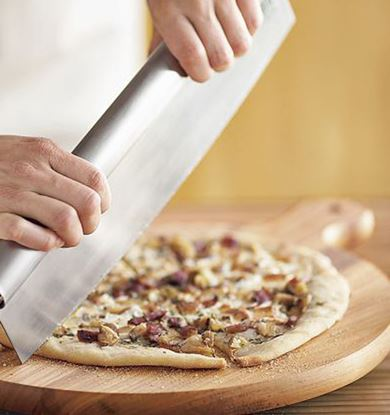 Picture of HUJI Stainless Steel  Rocker Style Pizza Cutter - HJ008