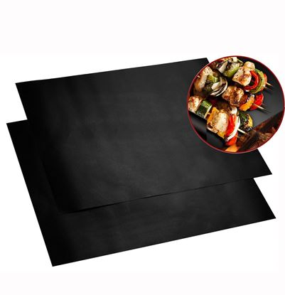 Picture of HUJI Non-stick Coated BBQ GRILL & OVEN MATS (Set of 2 Reusable Mats) - HJ078