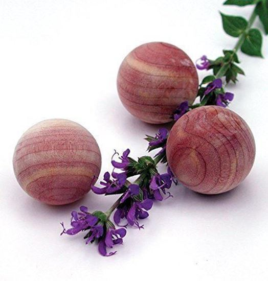 Picture of HUJI Natural Cedar Wood Moth Protection Balls Non-Toxic Moth Repellent - HJ122