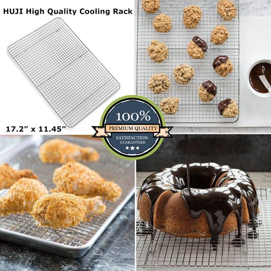 Picture of Huji Wire Chrome Plated Steel Cooling Rack Oven Safe - HJ127