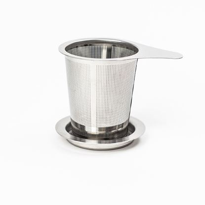 Picture of HUJI Mesh Stainless Steel Non-magnetic Lead Free Tea Infuser Strainer Steeper with Lid - HJ1045