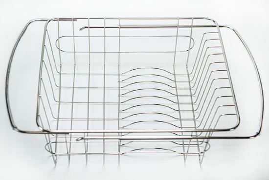 Picture Of HUJI Adjustable Stainless Steel Over The Sink Dish Drainer  Kitchen Rack (1)