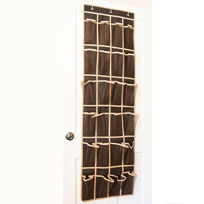 Picture of HUJI Over the Door Shoe Pocket Organizer Space Saving Storage Rack Hanger - HJ326
