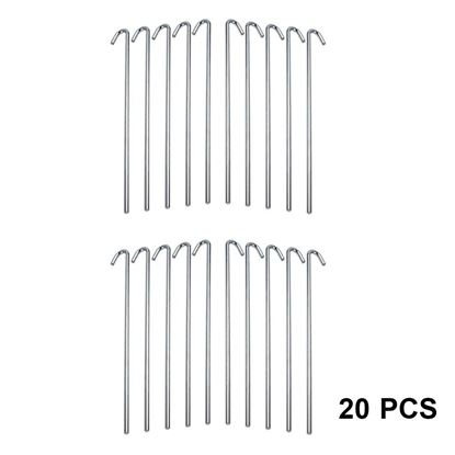 Picture of HUJI Galvanized Heavy Duty Steel Tent Pegs Camping Stakes - HJ330