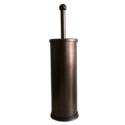 Picture of HUJI Rust Resistant Bronze Toilet Brush Holder with Lid - HJ342