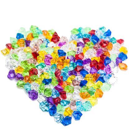Picture of HUJI Acrylic Bulk Colored Jewels Gems Faux Diamond Crystals Treasure Gems - HJ345