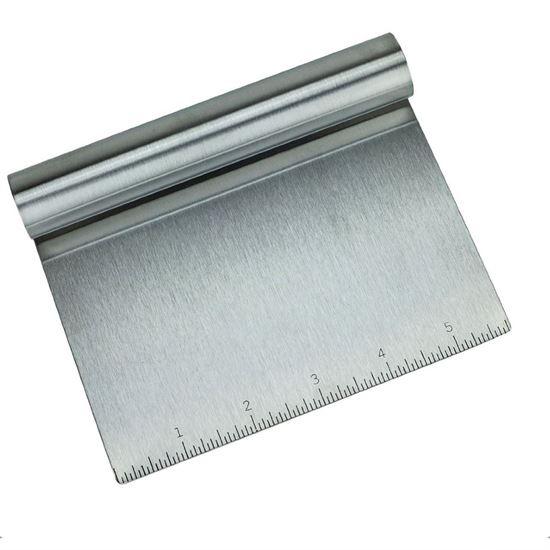 Picture of HUJI Stainless Steel Mirror Polished Dough Cutter Scraper Chopper Kitchen Tool - HJ215