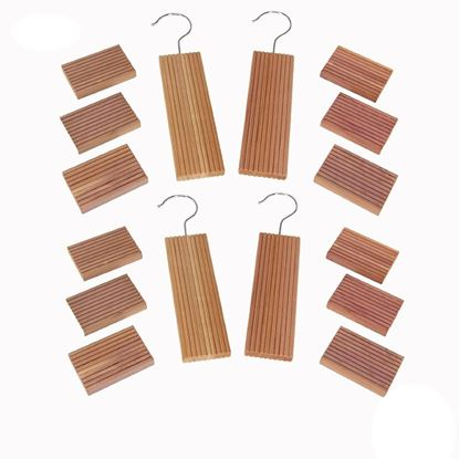 Picture of Huji Non-Toxic Cedar Wood Hang Ups and Moth Mildew Repellent Blocks - HJ121_4SET