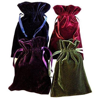 "Picture of HUJI Tarot Rune Bag Bundle of 4: Moss Green, Navy Blue, Purple, Wine 6"" x 9"" - PM16001"