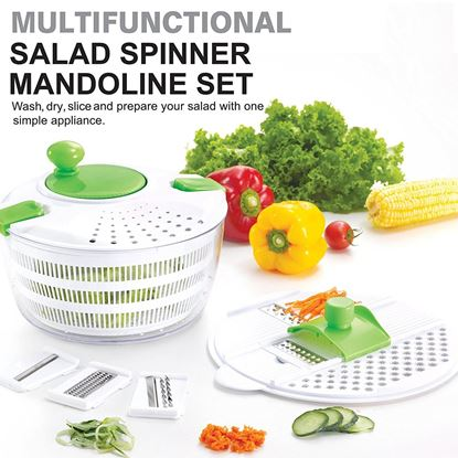 Picture of Multifunctional Salad Spinner and Mandoline Set - HJ358_1PK