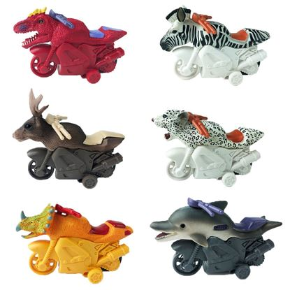 Picture of Push and Go Friction Powered Animal Toy Motocycles for Kids - HJ365_6