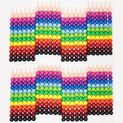 Picture of Huji Stacking 12 Colors Round Crayons Set, Favorite for Kids Party Favors, Safe, Non Toxic –48PK (Round-Crayons, 24) - HJ372_48