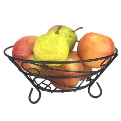 Picture of Huji Scroll Design Fruit Basket Storage Bowl - HJ188