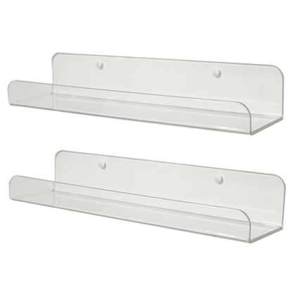 Picture of HUJI Clear Invisible Contemporary Floating Acrylic Shelves - HJ374_2PK