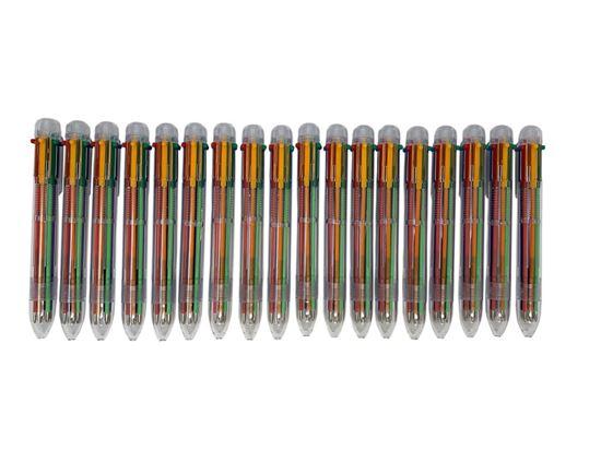 Picture of HUJI Multi-Color Pens (Multicolor Pens – 18Pk 6 in 1) HJ377