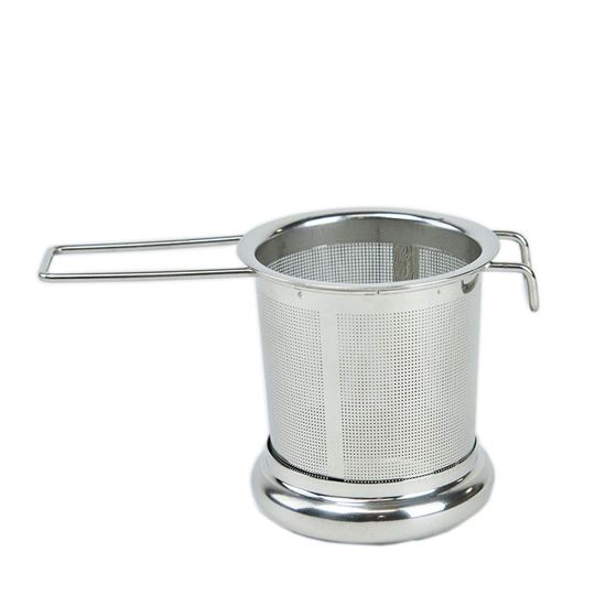 Picture of HUJI Mesh Non-Magnetic Stainless Steel Lead Free Tea Infuser Strainer Set w/ Handle & Lid - HJ340