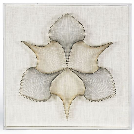 """Picture of Stringed Leaves Shadow Box Wall Décor (MS30595A) 17.7"""" L x 17.7"""" H"""