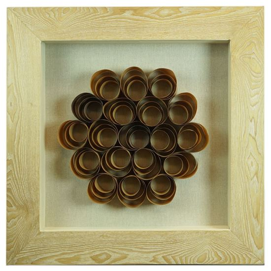 """Picture of Wood Shavings Shadow Box (MS22692A) 23.62"""" L x 23.62"""" H"""