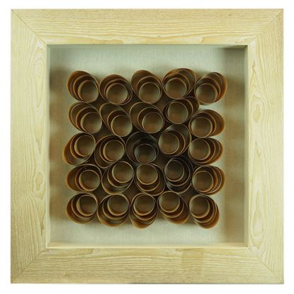 """Picture of Wood Shavings Shadow Box (MS22692B) 23.62"""" L x 23.62"""" H"""