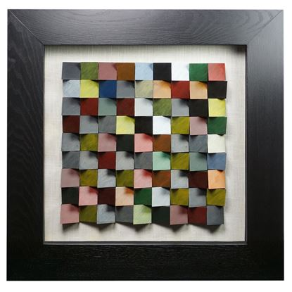 """Picture of Edges 3D Geometric Shadow Box Wall Décor (MS22719) 23.62"""" L x 23.62"""" H"""