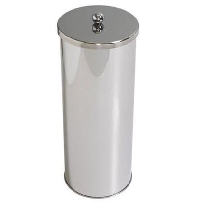 Picture of HUJI Stainless Steel Toilet Paper Canister Holder For Bathroom Storage - HJ1046