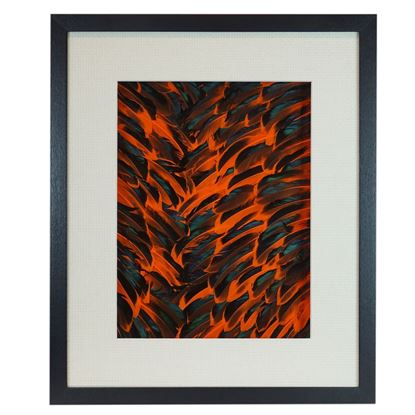 """Picture of Feather Lavafall Shadow Box Wall Décor (MS30546B) 19.69"""" L x 23.62"""" H"""
