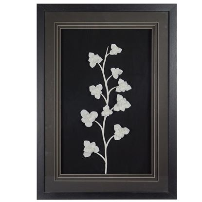 """Picture of Ceramic Jasmine Flower Shadow Box Wall (MS36267) 19.69"""" L x 27.56"""" H"""