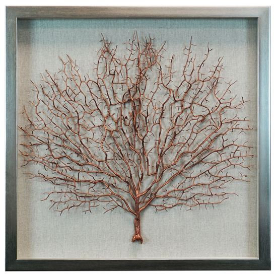 """Picture of Copper Tree Shadow Box (MS24299I) 19.69"""" L x 19.69"""" H"""