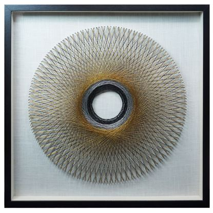 """Picture of Circle of String Art Shadow Box Wall Décor (MS37038) 31.50"""" L x 31.50"""" H"""