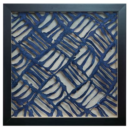 """Picture of Water Themed Papier-Mâché Shadow Box Wall Décor (MS24675A) 15.75"""" L x 15.75"""" H"""