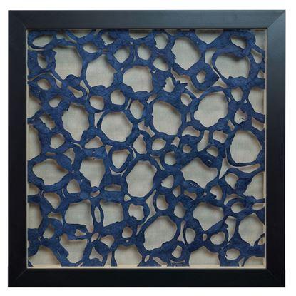 "Picture of Water Themed Papier-Mâché Shadow Box Wall Décor (MS24675C) 15.75"" L x 15.75"" H"