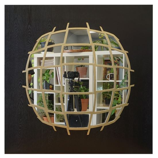 """Picture of Mirrored Globe Shadow Box (MS22154) 31.50"""" L x 31.50"""" H"""