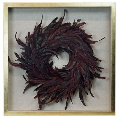 """Picture of Feather Nest Shadow Box Wall Décor (MS36541C) 23.62"""" L x 23.62"""" H"""