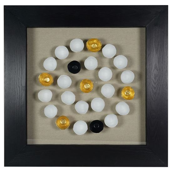 """Picture of Ceramic Egg Shell Shadow Box Wall Décor  (MS24700B) 23.62""""H X 23.62""""L"""