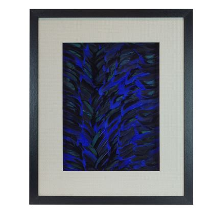 """Picture of Feather Waterfall Shadow Box Wall Décor (MS30546A) 19.69""""L X 19.69""""H"""