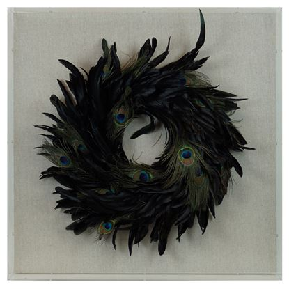 """Picture of Feather Nest Shadow Box Wall Décor (MS36540A) 23.62"""" L x 23.62"""" H"""