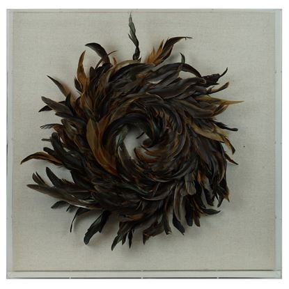 """Picture of Feather Nest Shadow Box Wall Décor (MS36540B) 23.62"""" L x 23.62"""" H"""