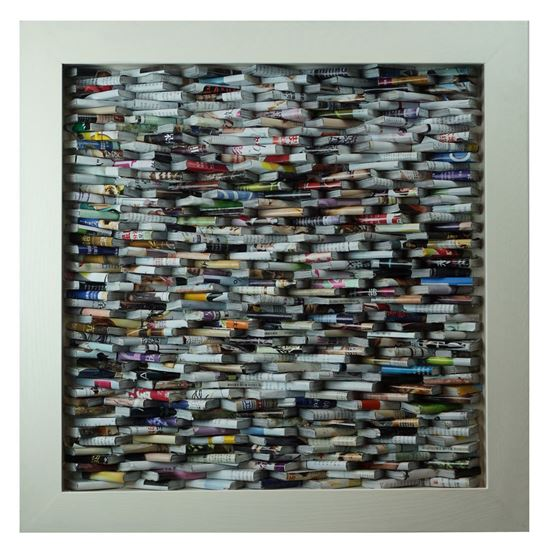 """Picture of Magazine Stacks Shadow Box Wall Décor (MS22603) 23.62"""" L x 23.62"""" H"""