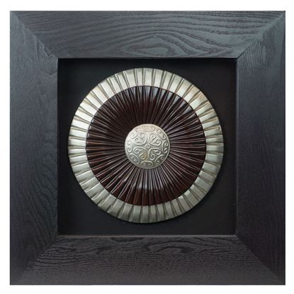 """Picture of Ancient Warrior Shield Shadow Box Wall Décor (MS10123C) 17.72"""" L x 17.72"""" H"""