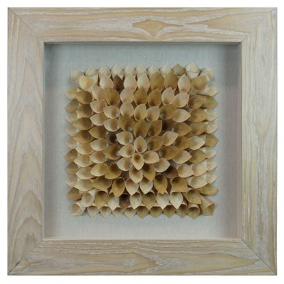 """Picture of Wood Shavings Bouquet Shadow Box Wall Décor (MS22688A) 23.62"""" L x 23.62"""" H"""