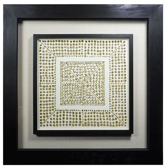 """Picture of Fire Burnt Shadow Box Wall Décor (MS22083A) 35.43"""" L x 35.43"""" H"""