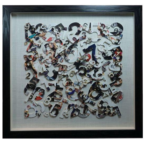 """Picture of Numbers Cutout Shadow Box Wall Décor (MS22598A) 35.43"""" L x 35.43"""" H"""