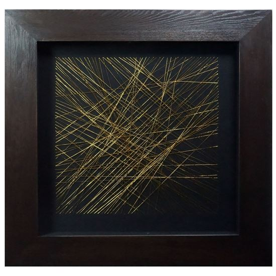"""Picture of Abstract Thread Shadow Box Wall Décor (MS24851B) 31.50"""" L x 31.50"""" H"""