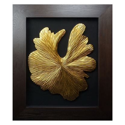 """Picture of Golden Mushroom Shadow Box Wall Décor (MS24839B) 28.35"""" L x 34.25"""" H"""