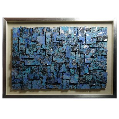 """Picture of Abstract Puzzle Pieces Shadow Box Wall Décor (MS30086B) 27.56"""" L x 39.37"""" H"""