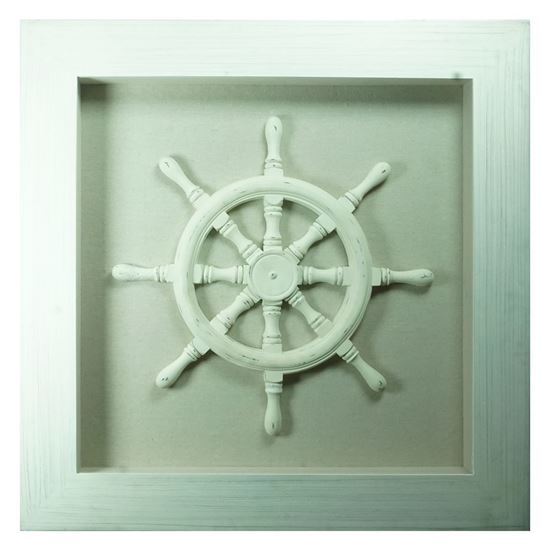 """Picture of White Helm Shadow Box Wall Décor (MS9109A) 35.43"""" L x 35.43"""" H"""