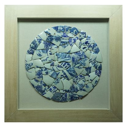 """Picture of Broken Porcelain Shadow Box (MS22886A) 35.43"""" L x 35.43"""" H"""