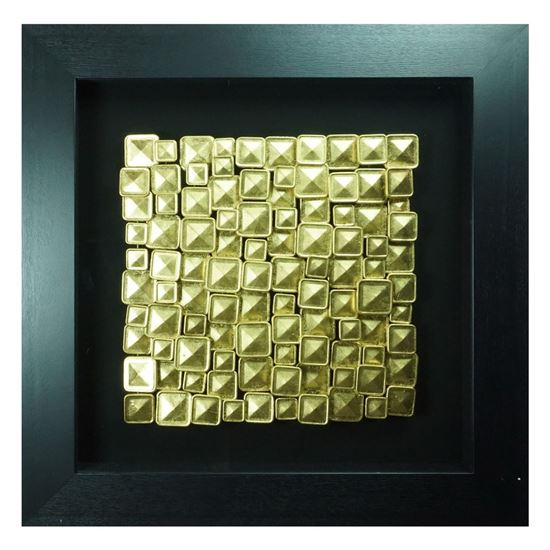 """Picture of Golden Tablets Shadow Box Wall Décor (MS30235A) 35.43"""" L x 35.43"""" H"""