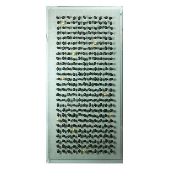 """Picture of Pebble Phalanx Shadow Box Wall Décor (MS46003) 59.06"""" L x 27.60"""" H"""