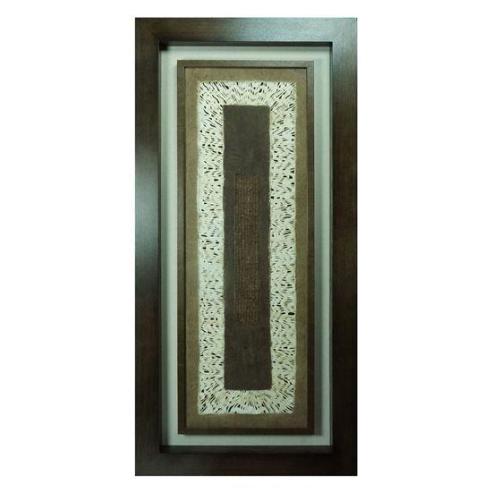 "Picture of Abstract Papier-Mâché Art Shadow Box Wall Décor (MS22057B) 59.06"" L x 27.56"" H"